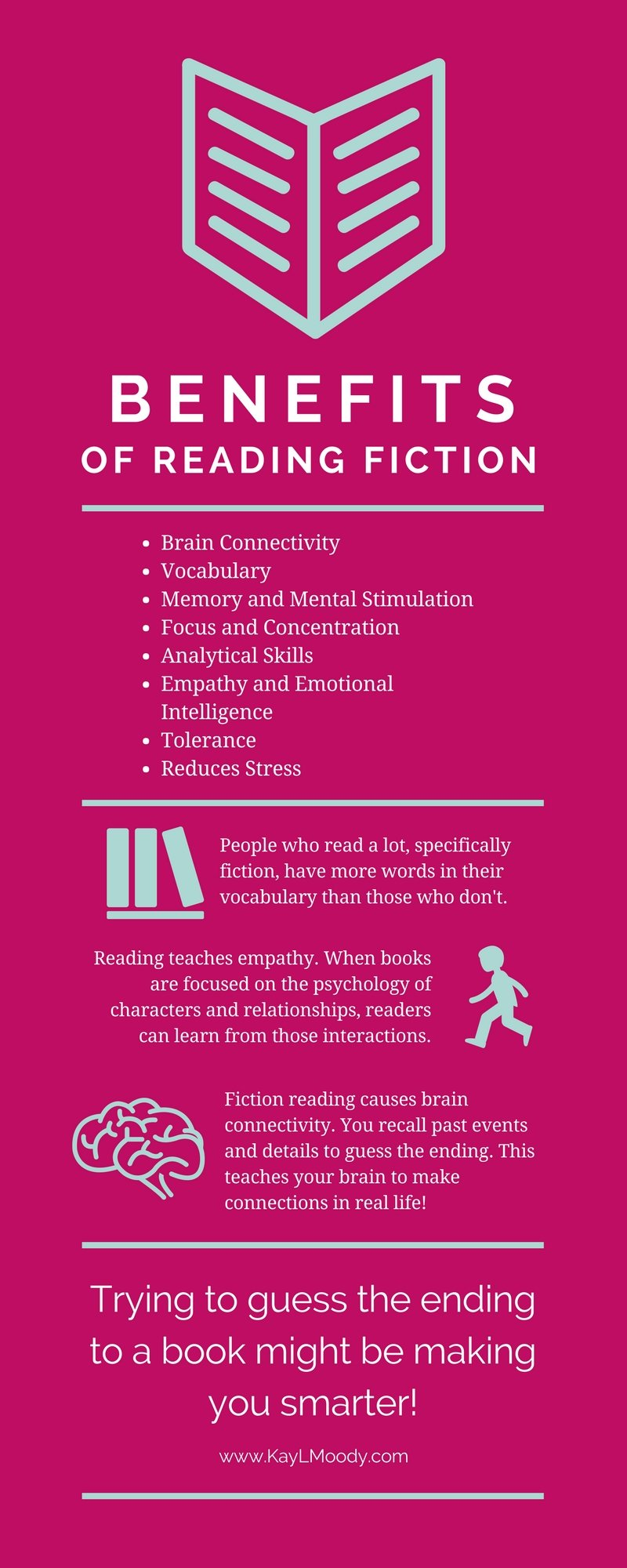 Benefits of Reading Fiction Infographic
