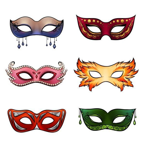 The masquerade masks from Dust Crown (The Elements of Kamdaria Book 3). The trials are over. It's time for the real fight to begin.