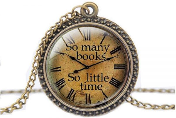 The best gifts for book lovers this Christmas season, including a reading themed necklace!