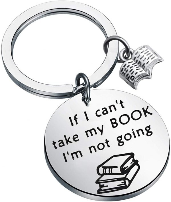 The best gifts for book lovers this Christmas season, including a funny book themed keychain!