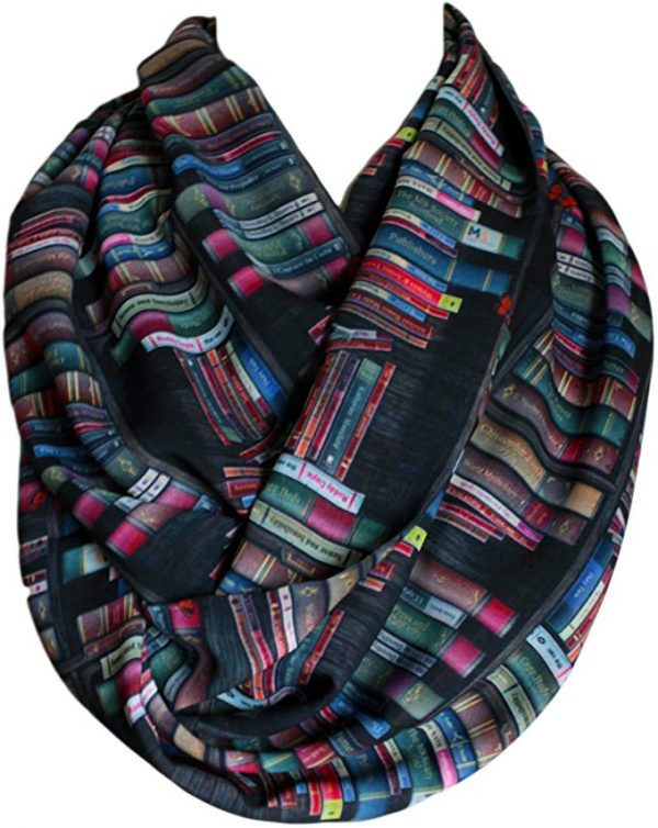 The best gifts for book lovers this Christmas season, including a bookshelf infinity scarf!