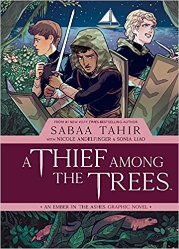 Adventurous books for teens including A Thief Among The Trees by Sabaa Tahir!