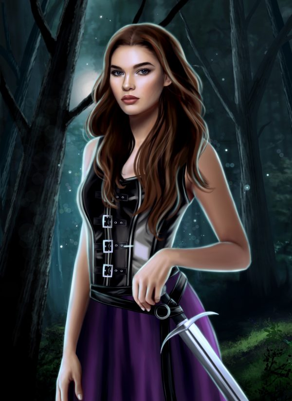 Character portrait of Elora from Kay L Moody's series, The Fae of Bitter Thorn.